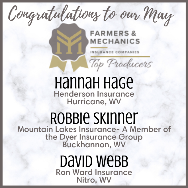 Top Producers for May