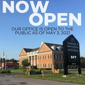 Office Now Open May 2021